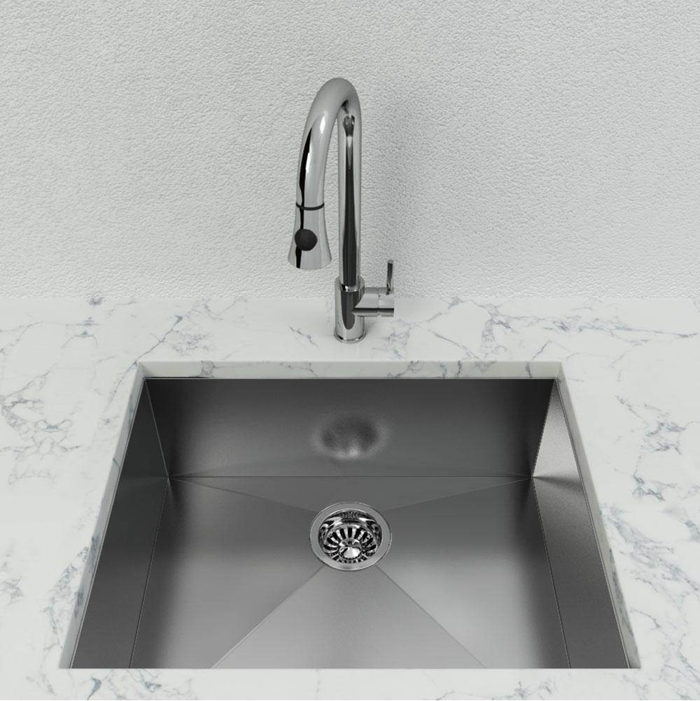 Cantrio Koncepts KSS-112 Stainless Steel Single Basin Undermount Kitchen Sink