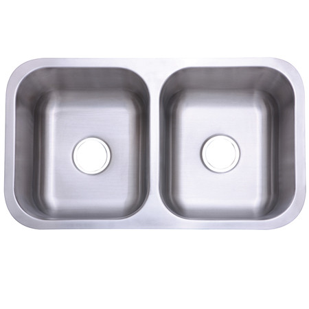 Gourmetier KU32188DBN Marina Double Bowl Kitchen Sink in Satin Nickel