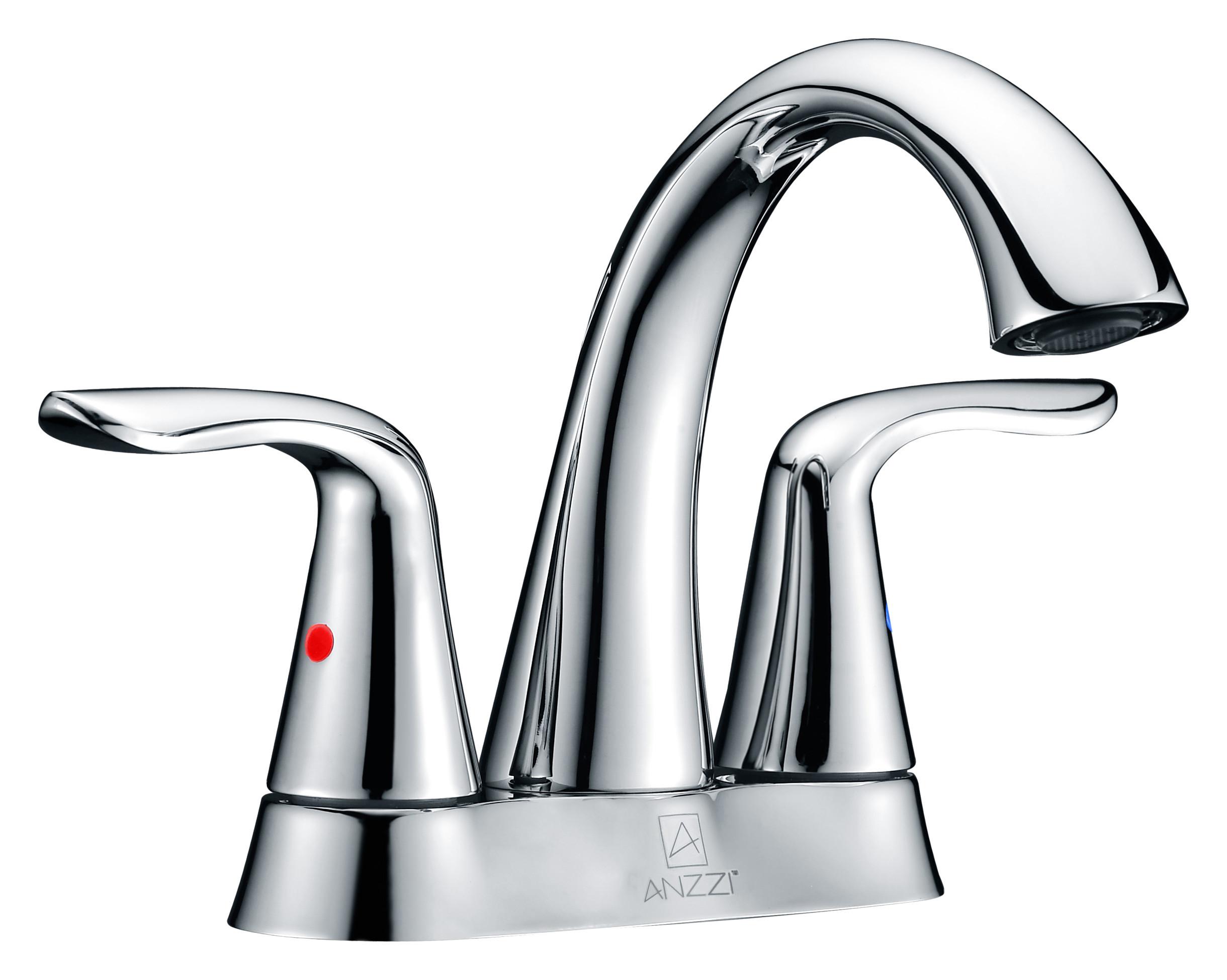 ANZZI L-AZ003 Cadenza Series Centerset High-Arc Faucet In Polished Chrome