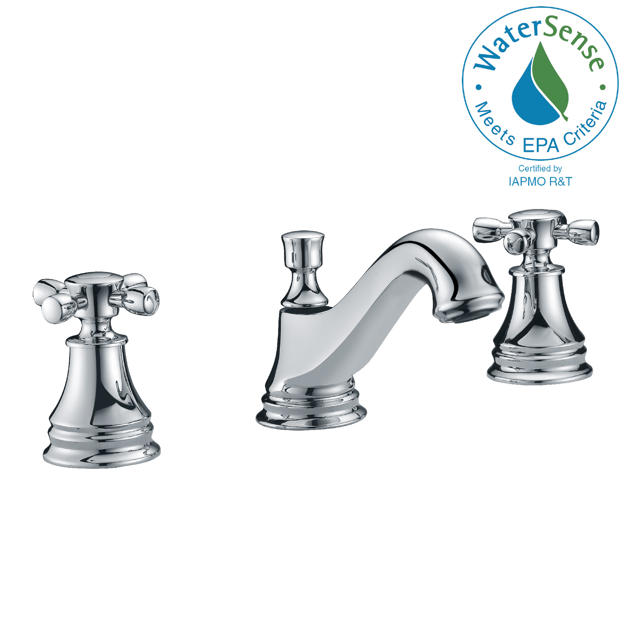 ANZZI L-AZ007 Melody Widespread Mid-Arc Bathroom Faucet In Polished Chrome