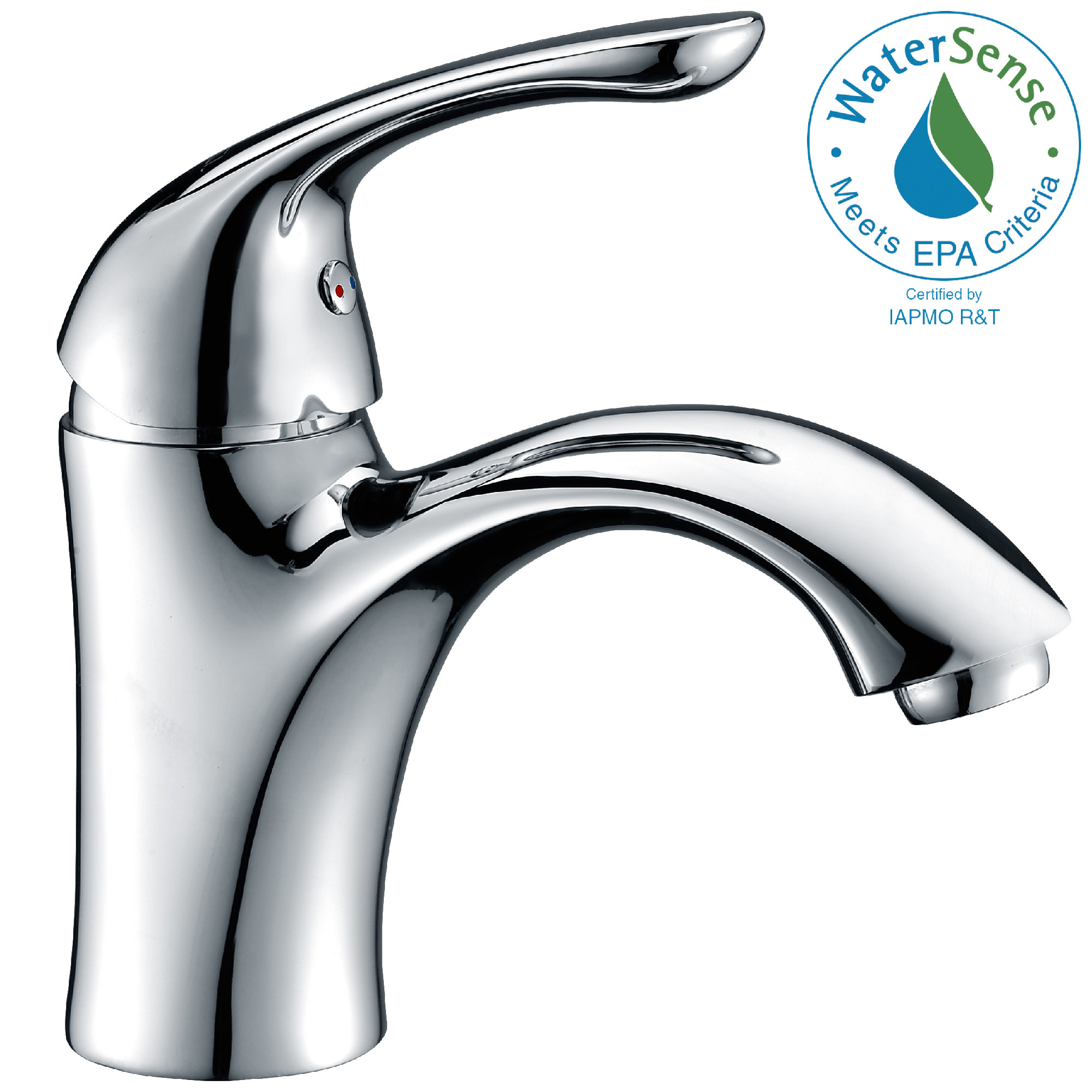 ANZZI L-AZ011 Clavier Series Mid-Arc Bathroom Faucet In Polished Chrome