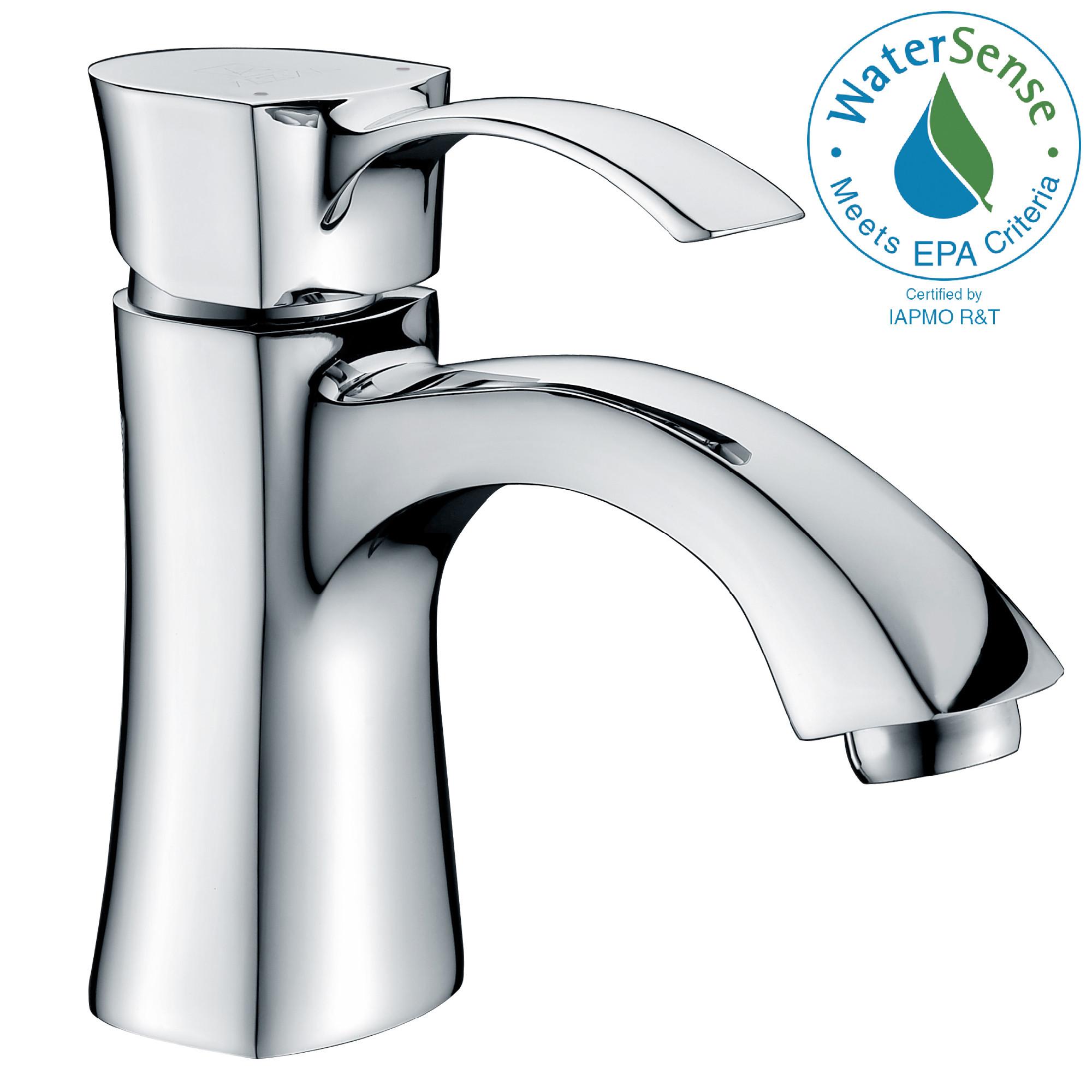 ANZZI L-AZ012 Alto Single Lever Handle Bathroom Faucet In Polished Chrome
