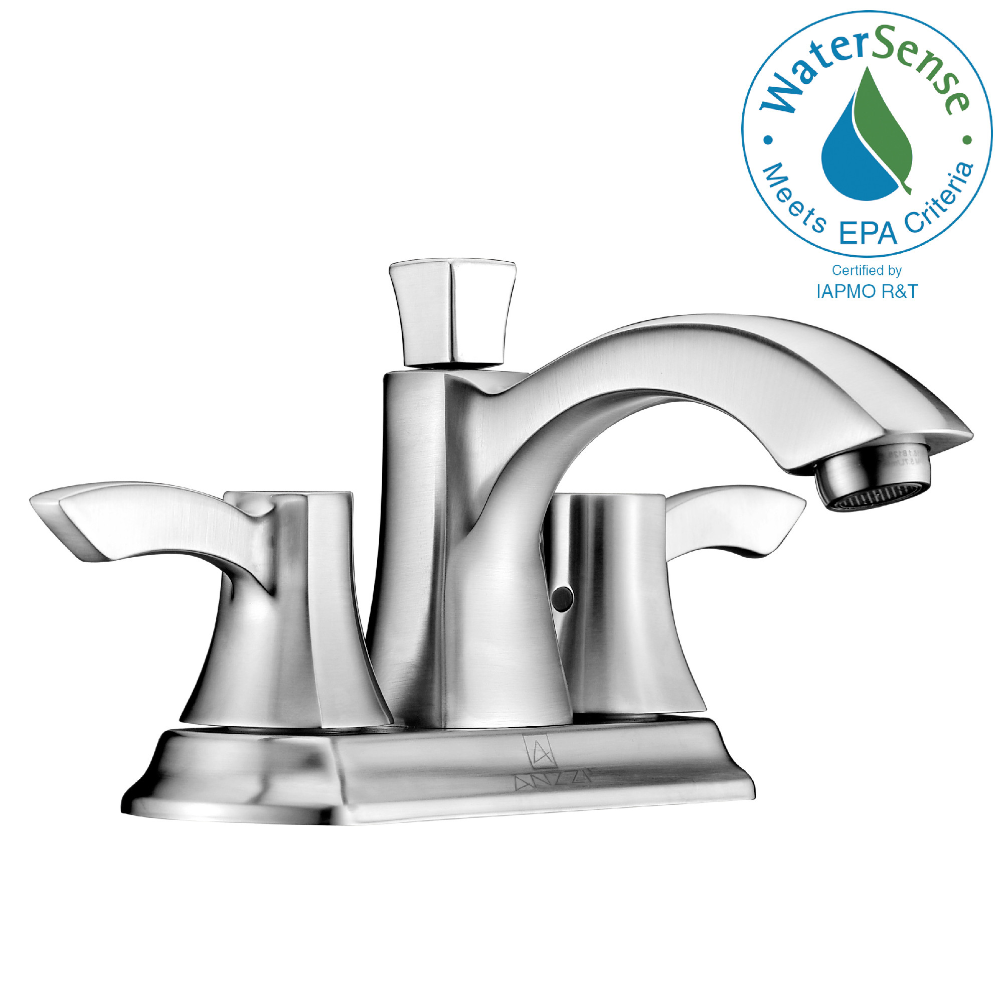 ANZZI L-AZ014BN Vista Series Centerset Mid-Arc Faucet In Brushed Nickel
