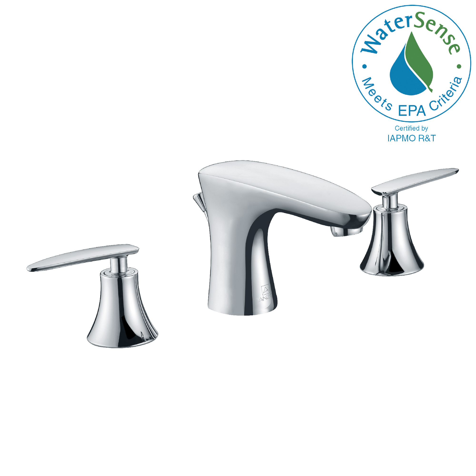 ANZZI L-AZ024 Chord Widespread Low-Arc Bathroom Faucet In Polished Chrome