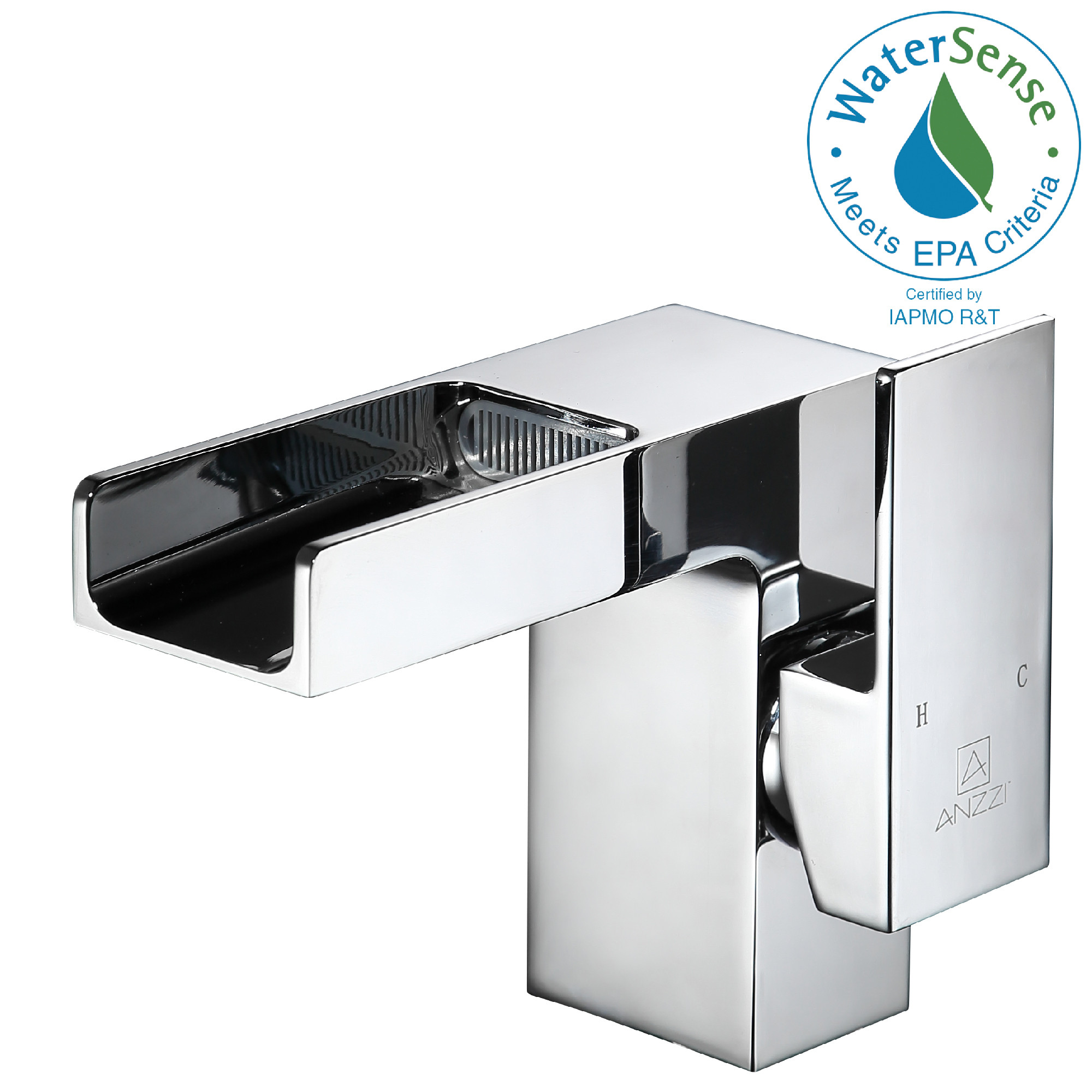 ANZZI L-AZ039 Zhona Series Waterfall Low-Arc Faucet In Polished Chrome