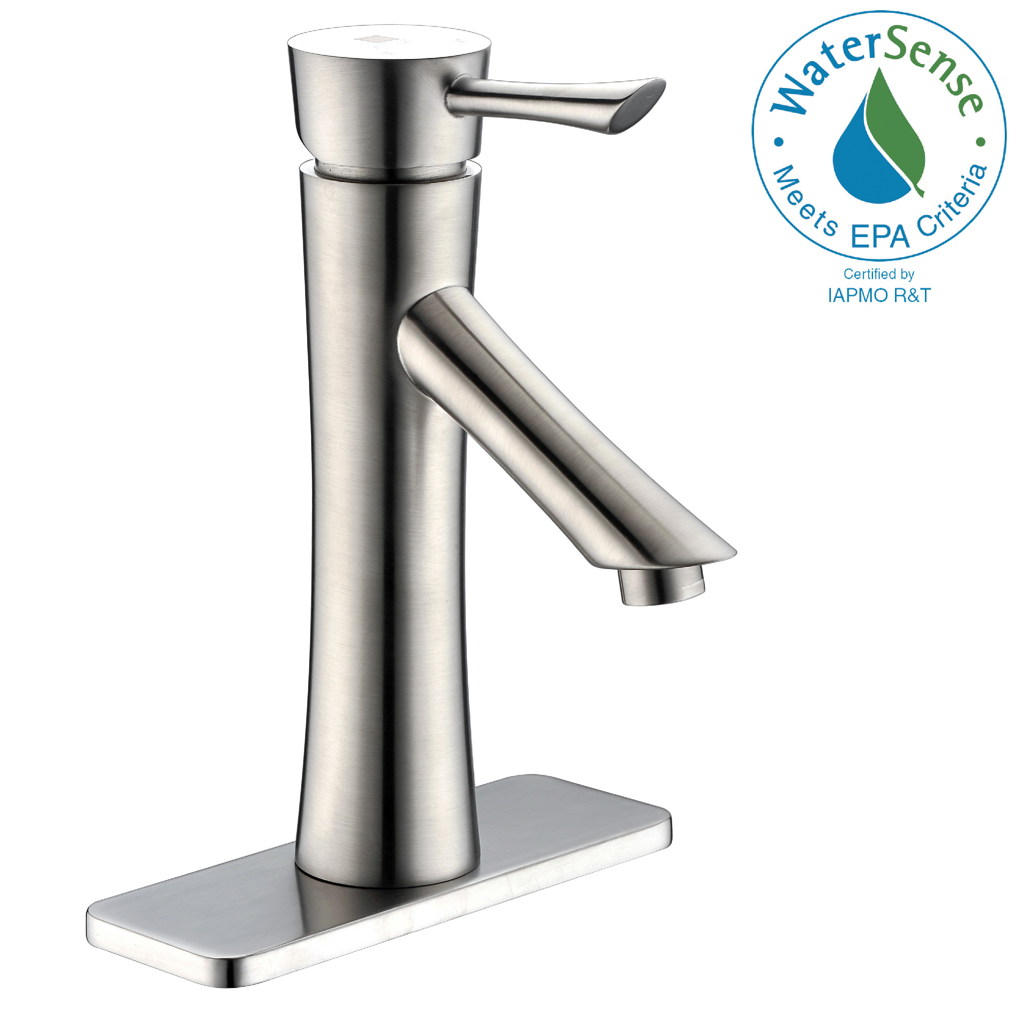 ANZZI L-AZ082 Sage Single Handle Low-Arc Bathroom Faucet In Brushed Nickel