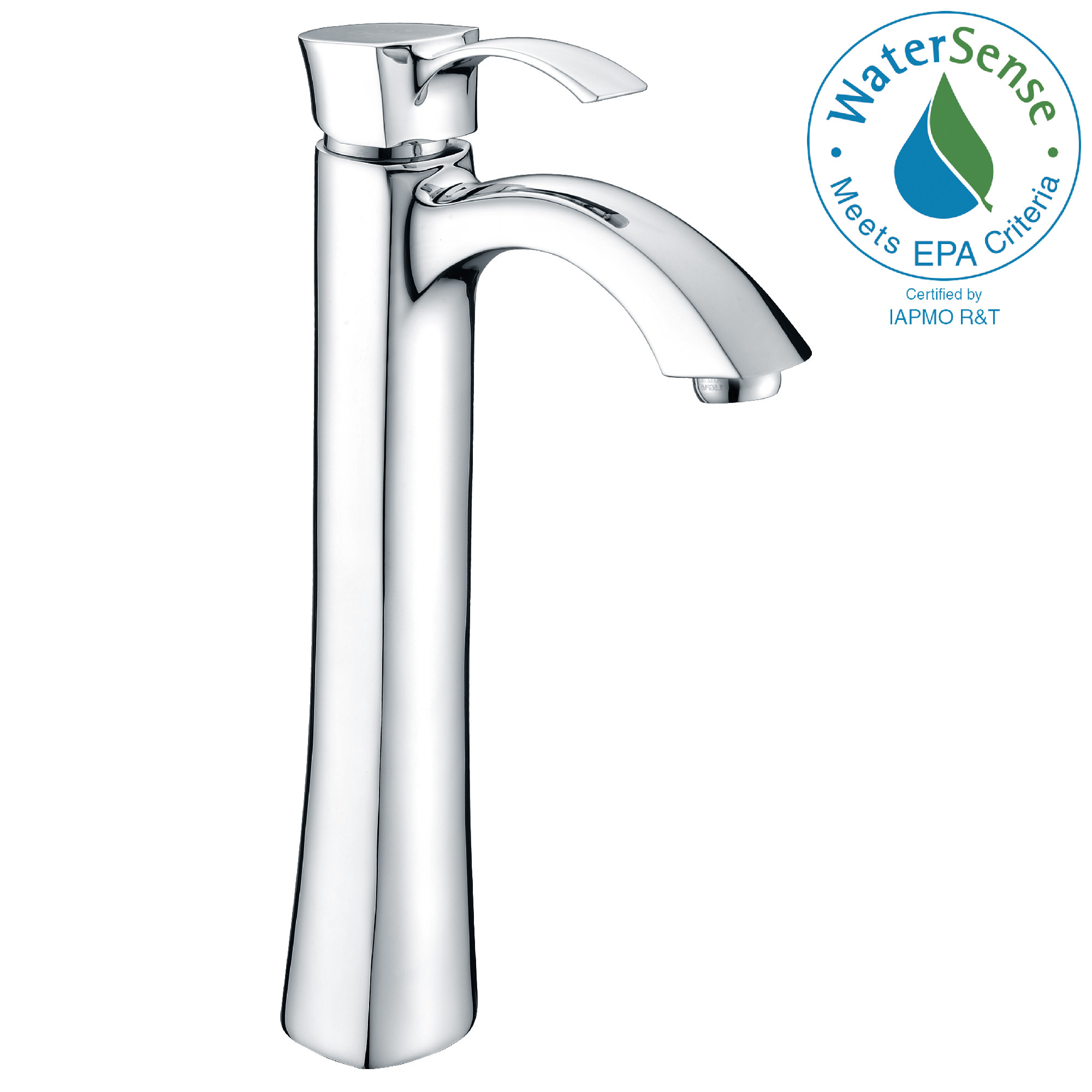 ANZZI L-AZ095 Harmony Series Single Handle Vessel Faucet In Polished Chrome