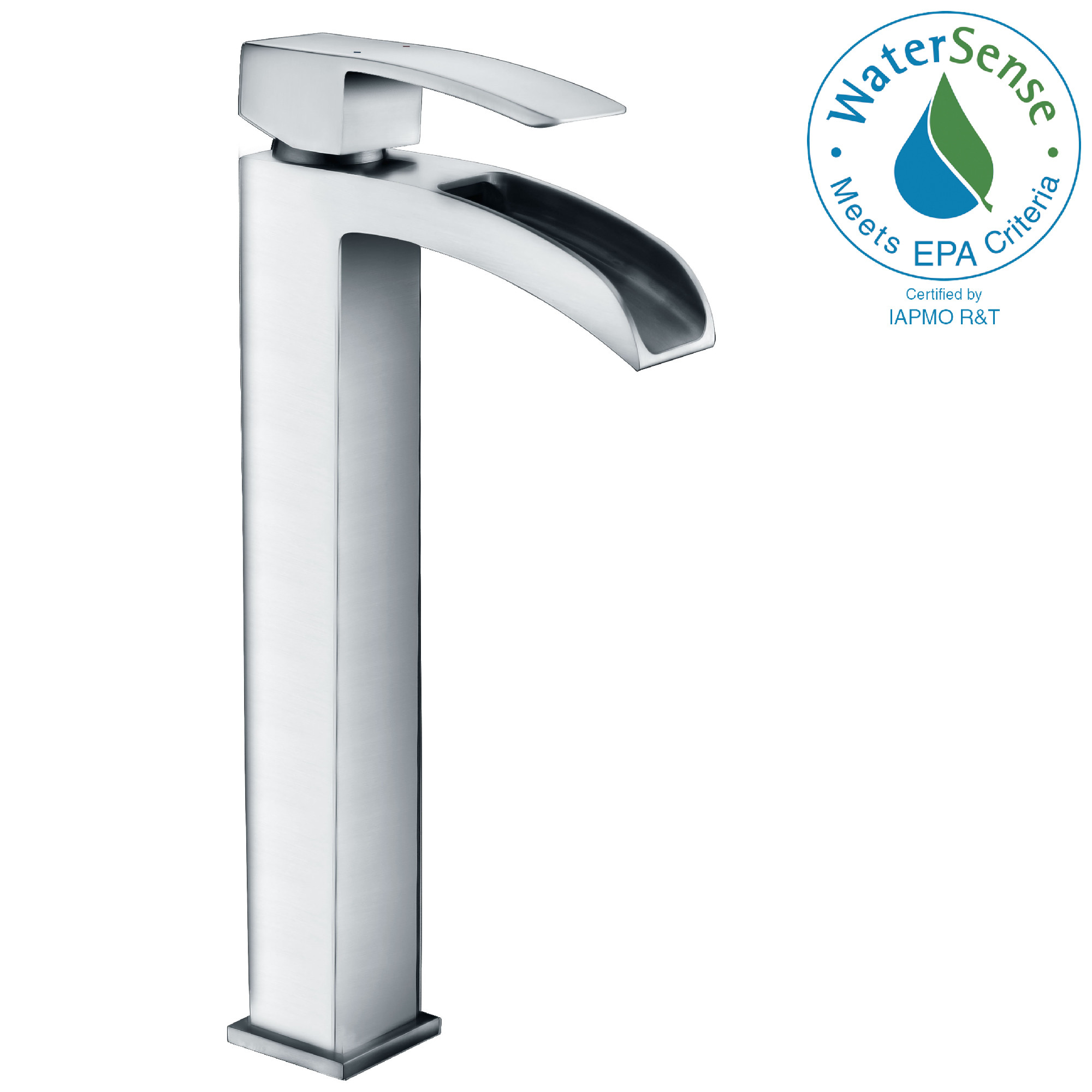 ANZZI L-AZ097 Key Series Waterfall Vessel Faucet In Polished Chrome