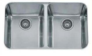 Franke LAX12031 Largo Double Basin Undermount Kitchen Sink in Stainless Steel