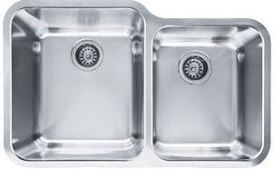 Franke LAX16033 Largo Stainless Steel Large and Medium Double Bowl Undermount Kitchen Sink