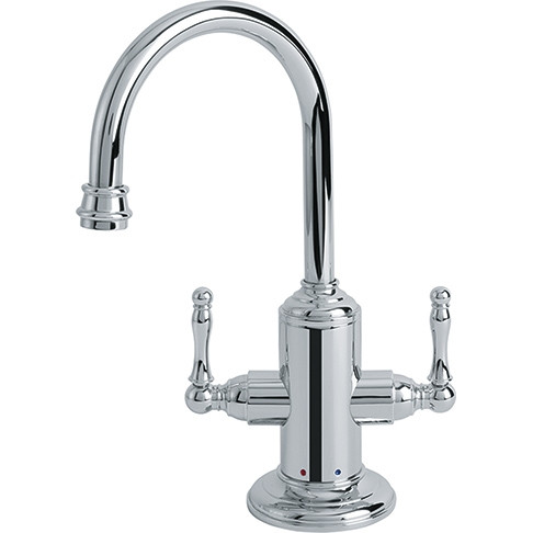 Franke LB12200 Chrome Farm House Little Butler Bar Faucet Hot and Cold