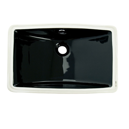 Fauceture LB18127 White or Black Courtyard Undermount Bathroom Sink