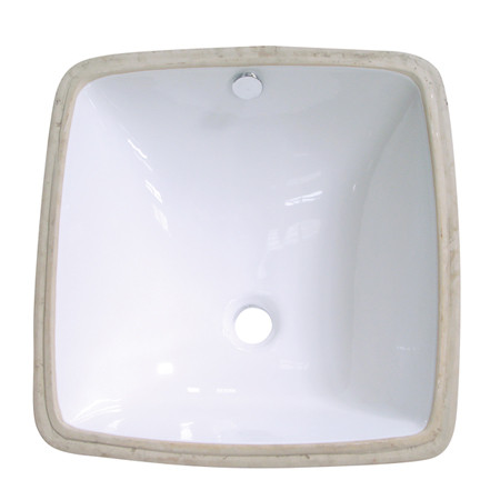 Fauceture LB18188 White or Black Porcelain Vista Undermount Bathroom Sink