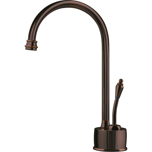 Franke LB6160 Single Lever Handle Kitchen Faucet with Hot Water Dispenser In Old World Bronze