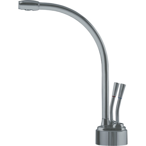FRANKE LB9280-100-HT Two-Handles Lever Kitchen Faucet with Single Hole In Satin Nickel