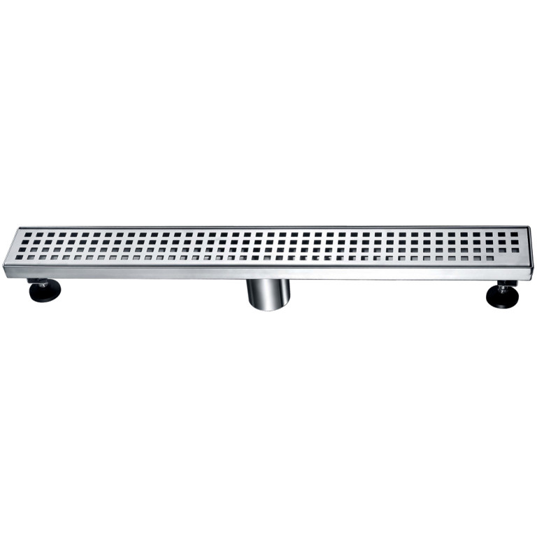 "Dawn® LBE240304 Brisbane River Series Linear Shower Drain 24""L In Polished Satin"