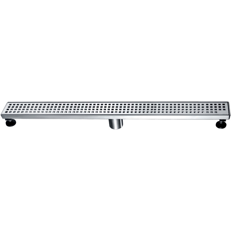 "Dawn® LBE320304 Brisbane River Series Linear Shower Drain 32""L In Polished Satin"