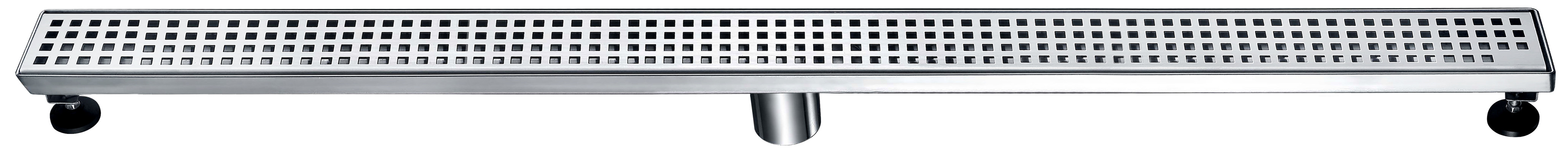 "Dawn® LBE470304 Brisbane River Series Linear Shower Drain 47""L In Polished Satin"