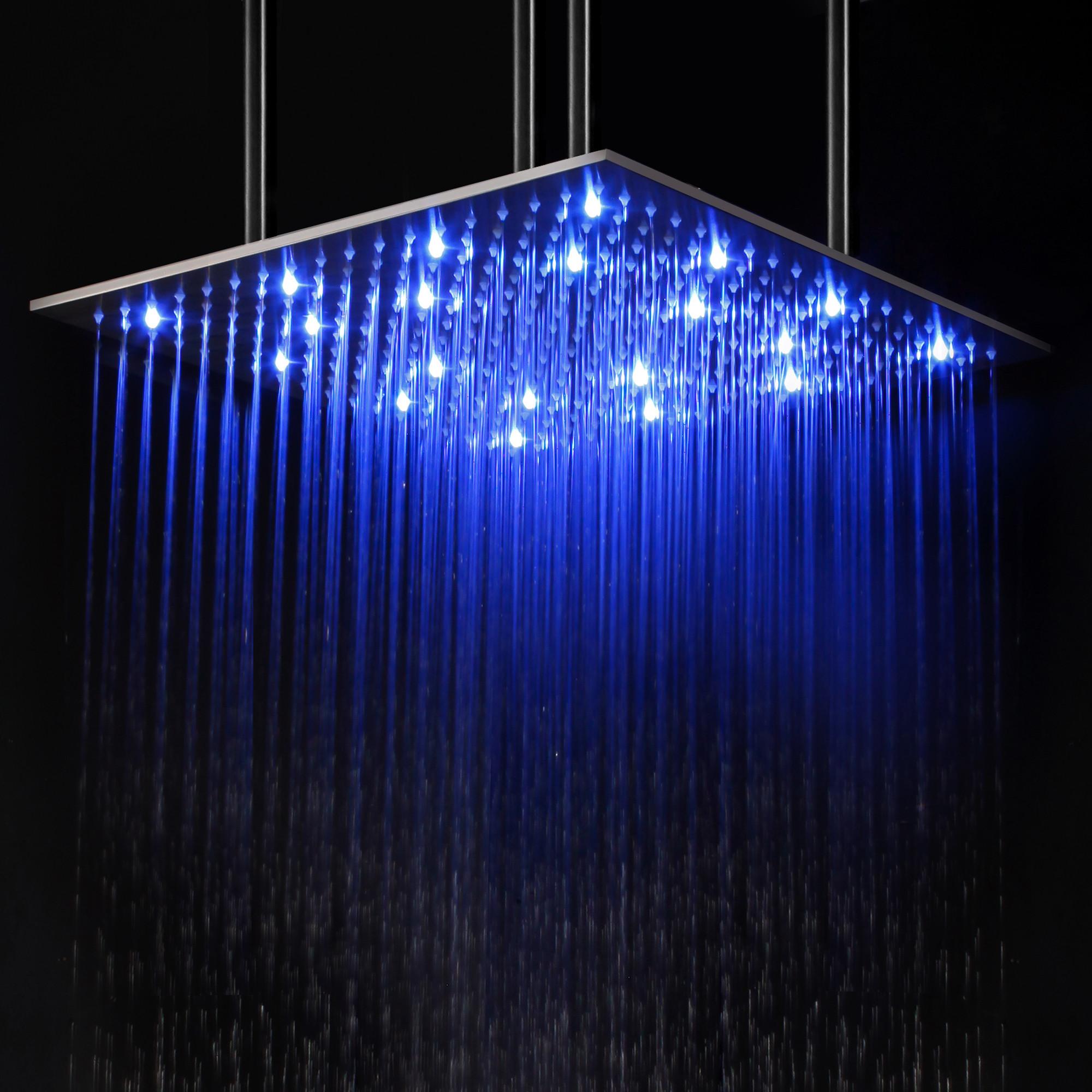 ALFI brand LED20S 20 Inch Square Multi Color LED Rain Shower Head