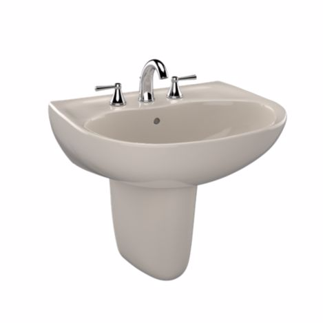 TOTO LHT241G#12 Sedona Beige Supreme® Wall Mount Lavatory Sink With Single Faucet Hole