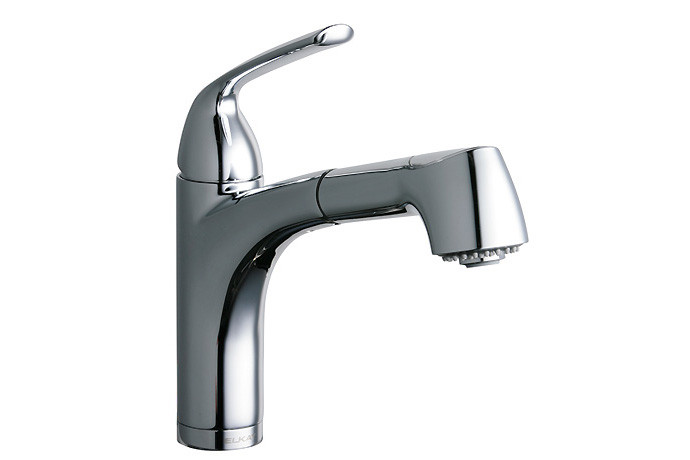 ELKAY LKGt1042CR Gourmet Lever Handle Pull Out Bar/Prep Faucet in Chrome
