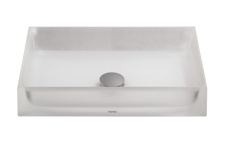 TOTO LLT151#61 Luminist™ Rectangle Vessel Lavatory Sink In Frosted White