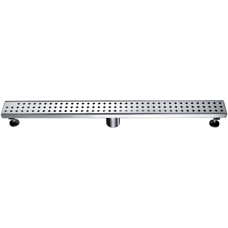 "Dawn® LMI320304 Mississippi River Series Linear Shower Drain 32""L In Polished Satin"