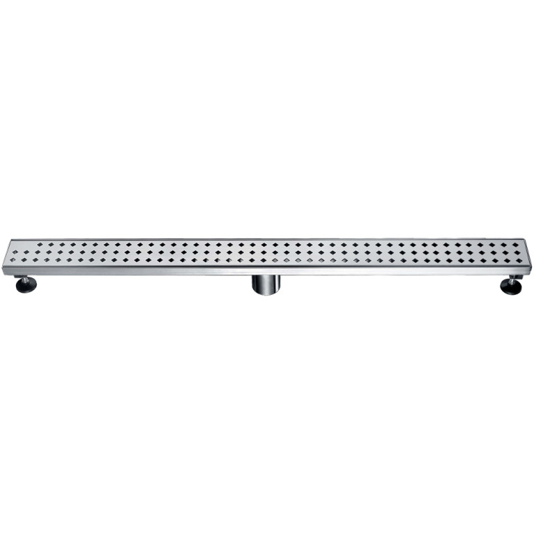 "Dawn® LMI360304 Mississippi River Series Linear Shower Drain 36""L In Polished Satin"