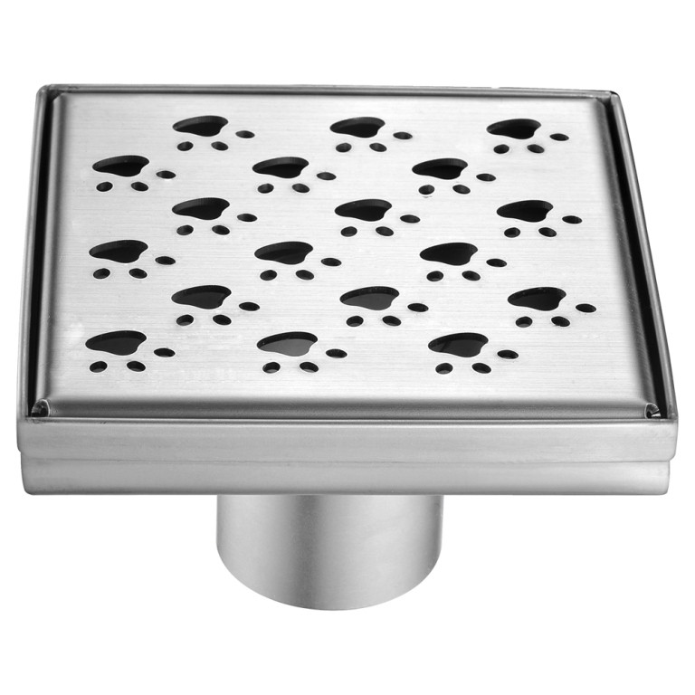 "Dawn® LMU050504 Memuru River Series Square Shower Drain 5""L In Polished Satin"