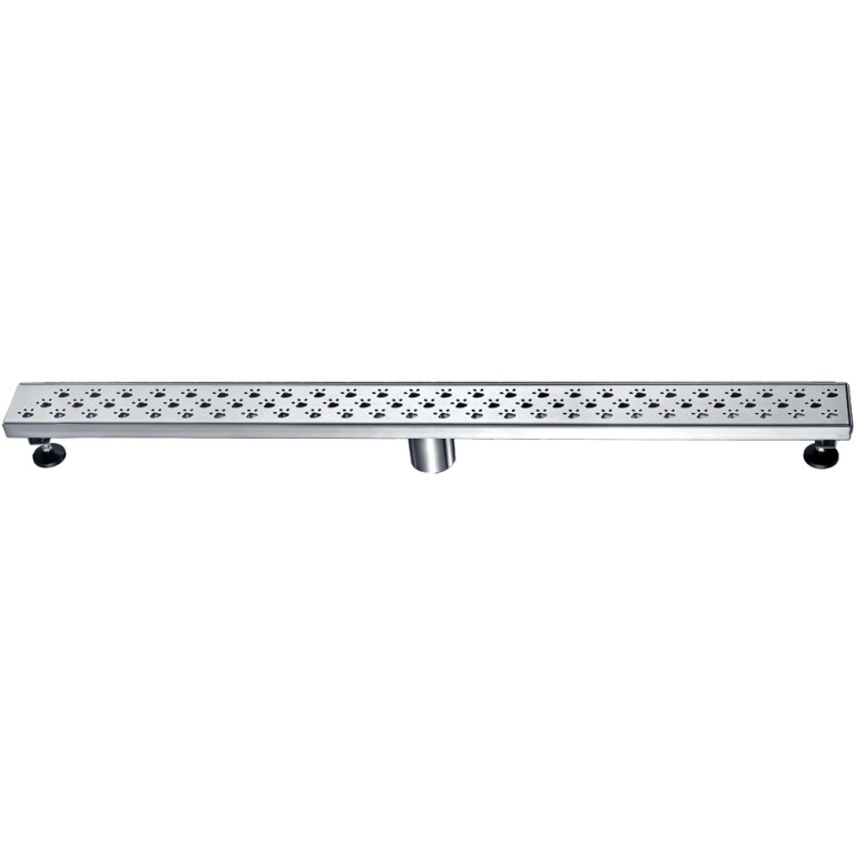 "Dawn® LMU360304 Memuru River Series Linear Shower Drain 36""L In Polished Satin"