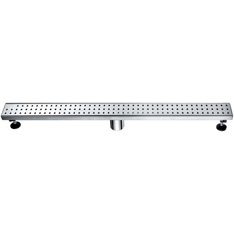 "Dawn® LNE320304 Nile River Series Linear Shower Drain 32""L In Polished Satin"