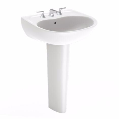 TOTO LPT241G#01 Cotton Supreme® Pedestal Lavatory Sink With Single Faucet Hole