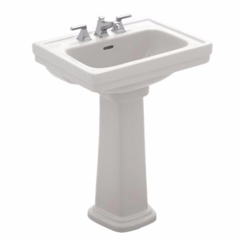 TOTO LPT532N#01 Cotton Promenade® Pedestal Lavatory With Single Faucet Hole