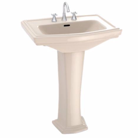 TOTO LPT780#03 Bone Clayton® Pedestal Lavatory With Single Faucet Hole