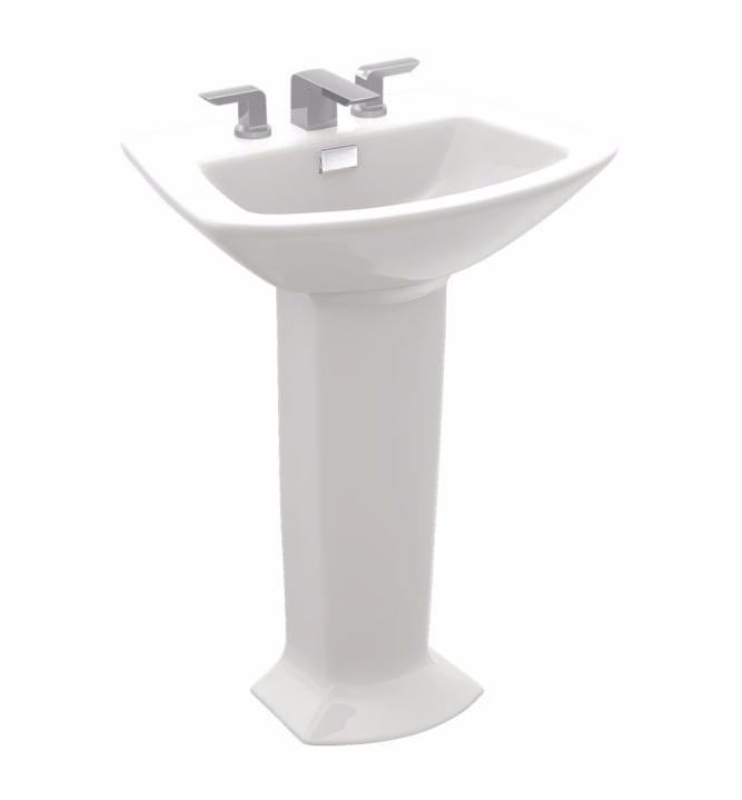 TOTO LPT960#03 Bone Soirée® Pedestal Lavatory Sink With Single Faucet Holev