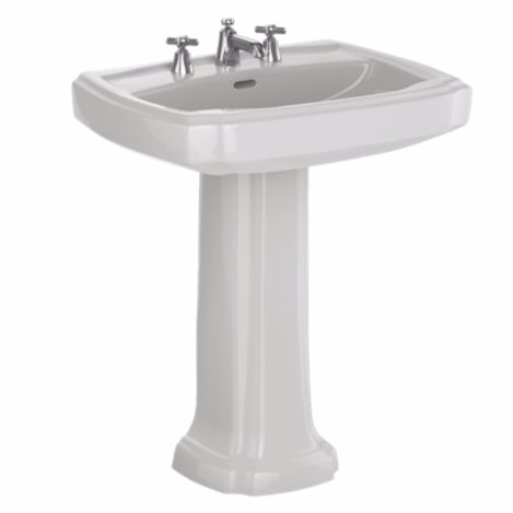 "TOTO LPT970#01 Coton Guinevere® 27"" Pedestal Lavatory With Single Faucet Hole"