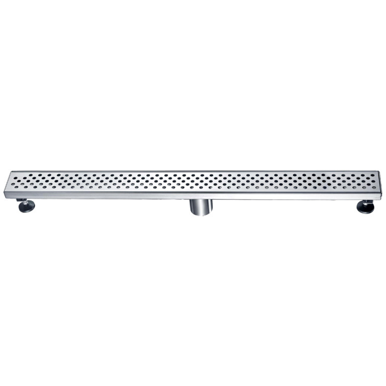 "Dawn® LRE320304 Rhone River Series Linear Shower Drain 32""L In Polished Satin"