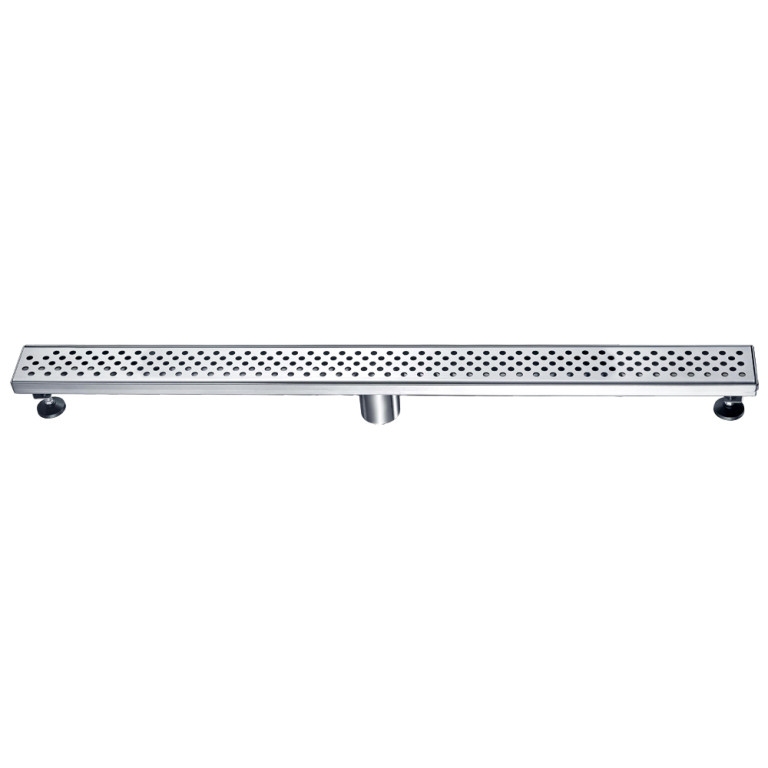 "Dawn® LRE360304 Rhone River Series Linear Shower Drain 36""L In Polished Satin"