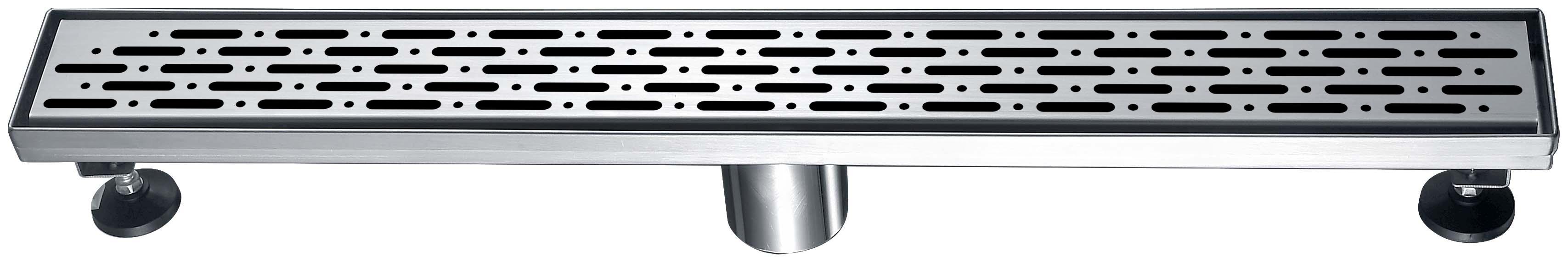 "Dawn® LRO240304 Rio Orinoco River Series Linear Shower Drain 24""L In Polished Satin"