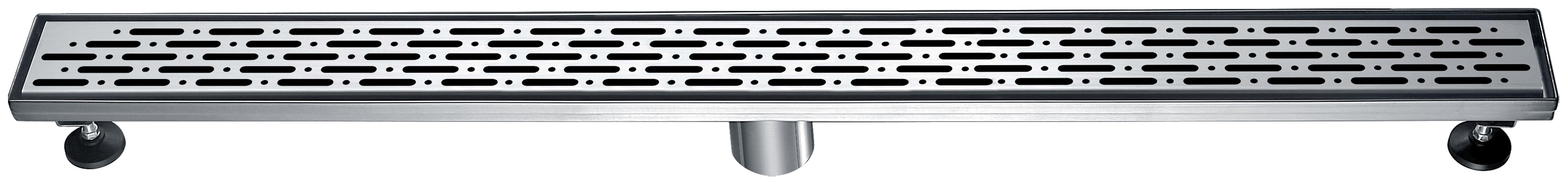 "Dawn® LRO360304 Rio Orinoco River Series Linear Shower Drain 36""L In Polished Satin"
