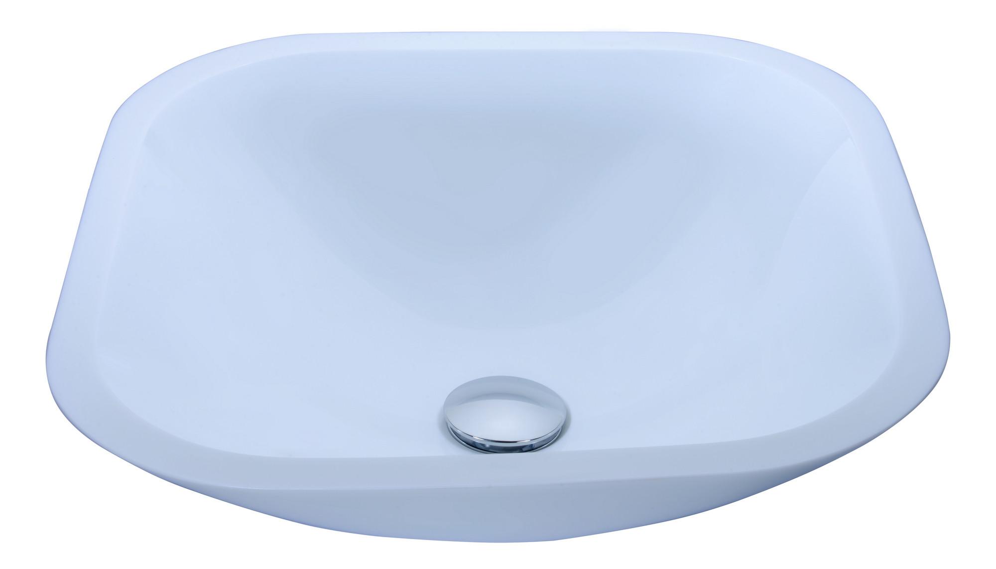 ANZZI LS-AZ034 Egret Series Round Glass Bathroom Vessel Sink In White