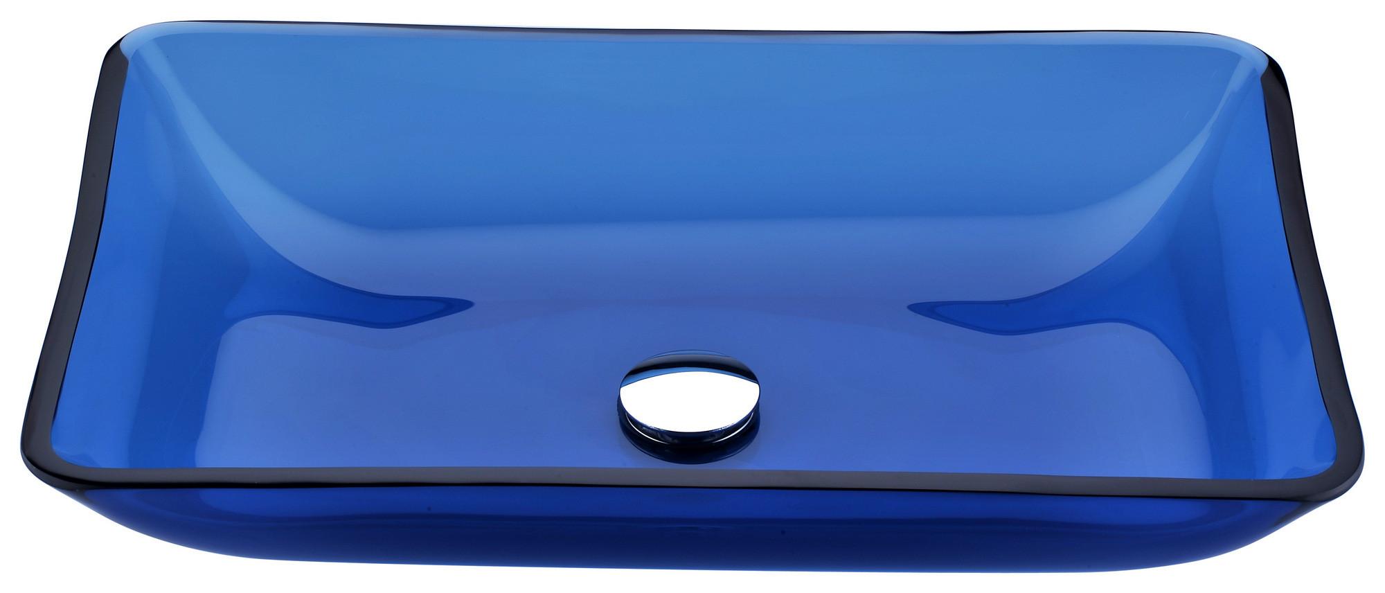 ANZZI LS-AZ044 Harmony Series Deco-Glass Vessel Sink In Cloud Blue