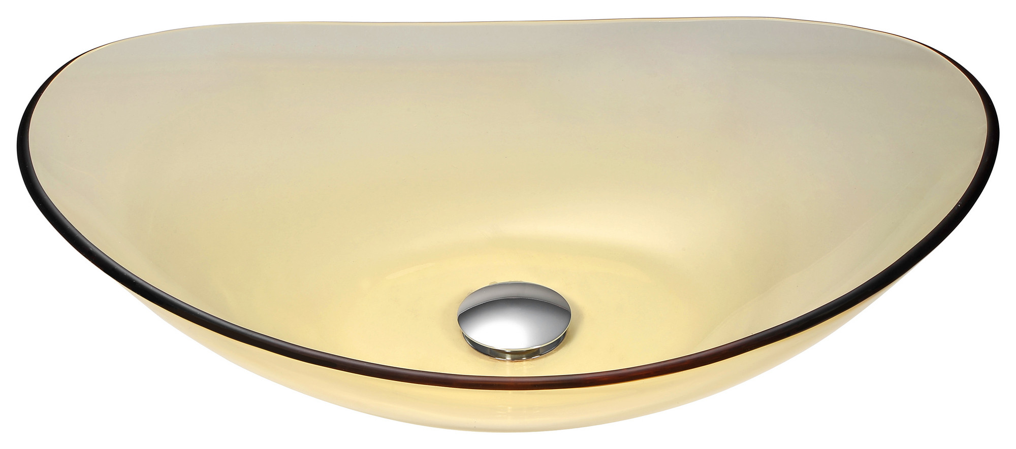 ANZZI LS-AZ052 Mesto Deco-Glass Vessel Sink In Lustrous Translucent Gold