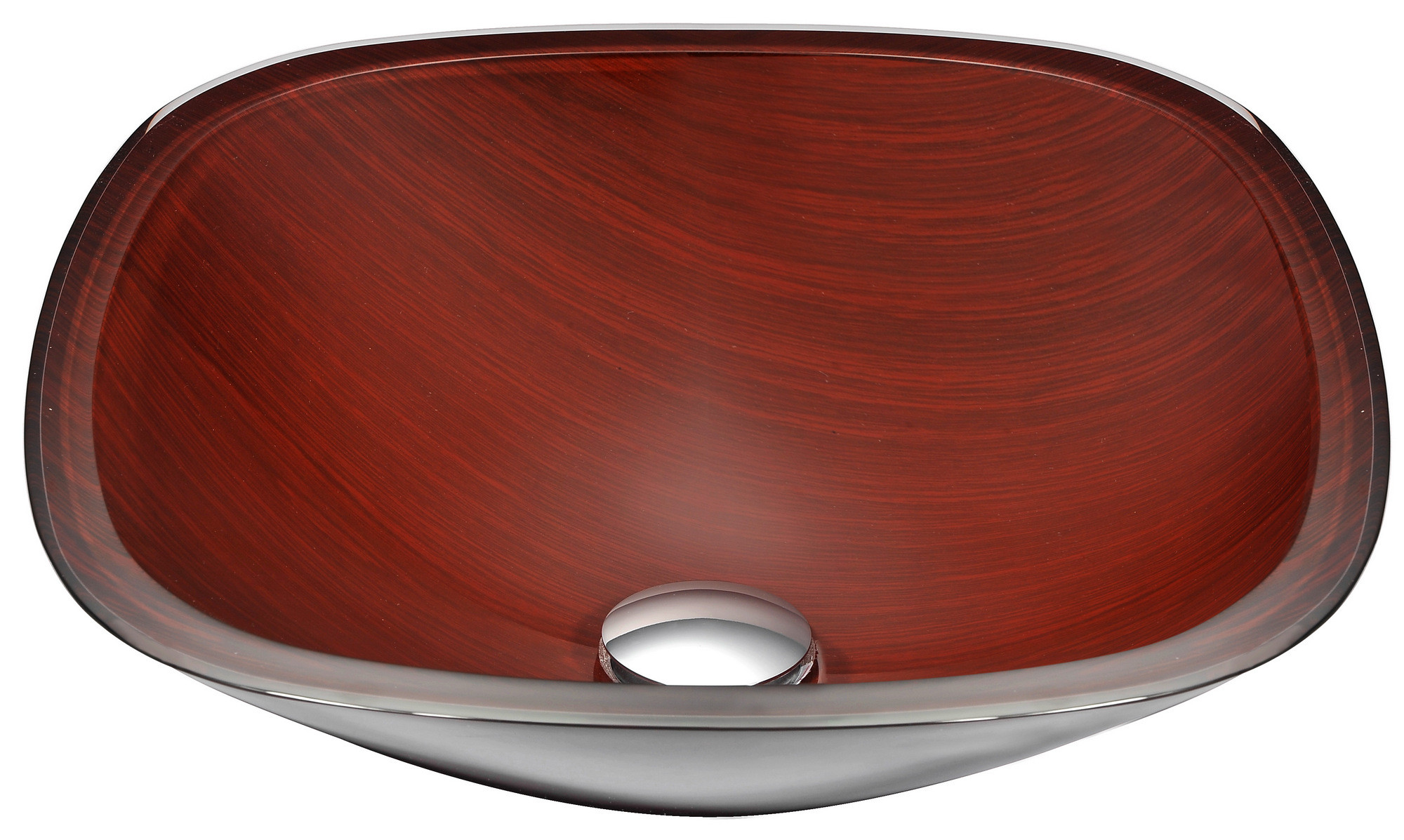 ANZZI LS-AZ066 Cansa Series Deco-Glass Vessel Sink In Rich Timber