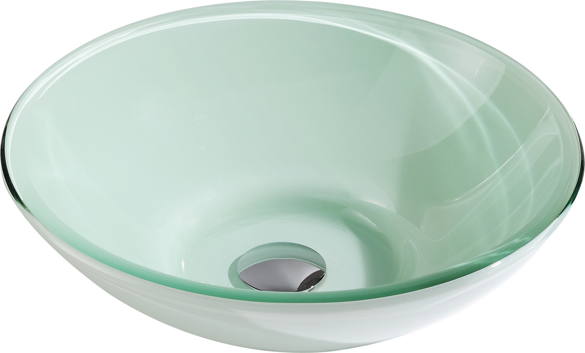ANZZI LS-AZ085 Pendant Series Deco-Glass Vessel Sink In Lustrous Frosted