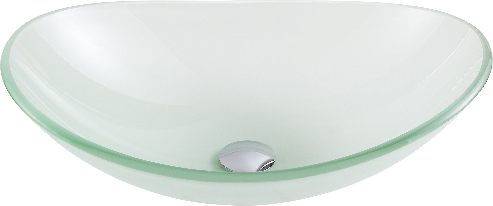 ANZZI LS-AZ086 Forza Series Deco-Glass Vessel Sink In Lustrous Frosted