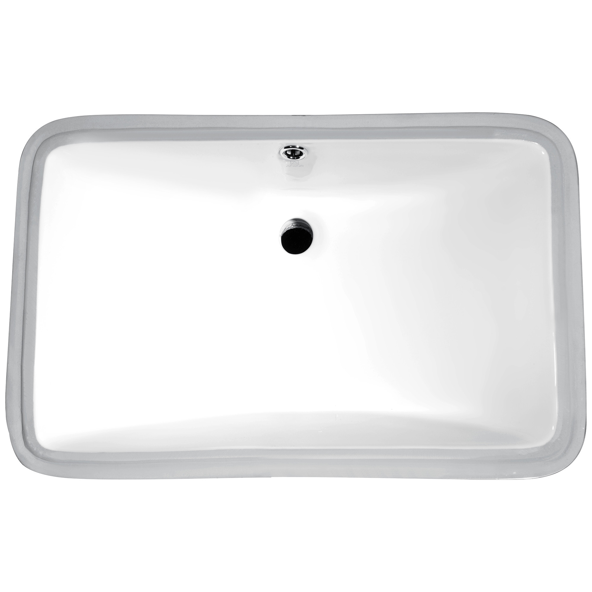 "ANZZI LS-AZ113 Dahlia Series 7.5"" Ceramic Undermount Sink Basin In White"