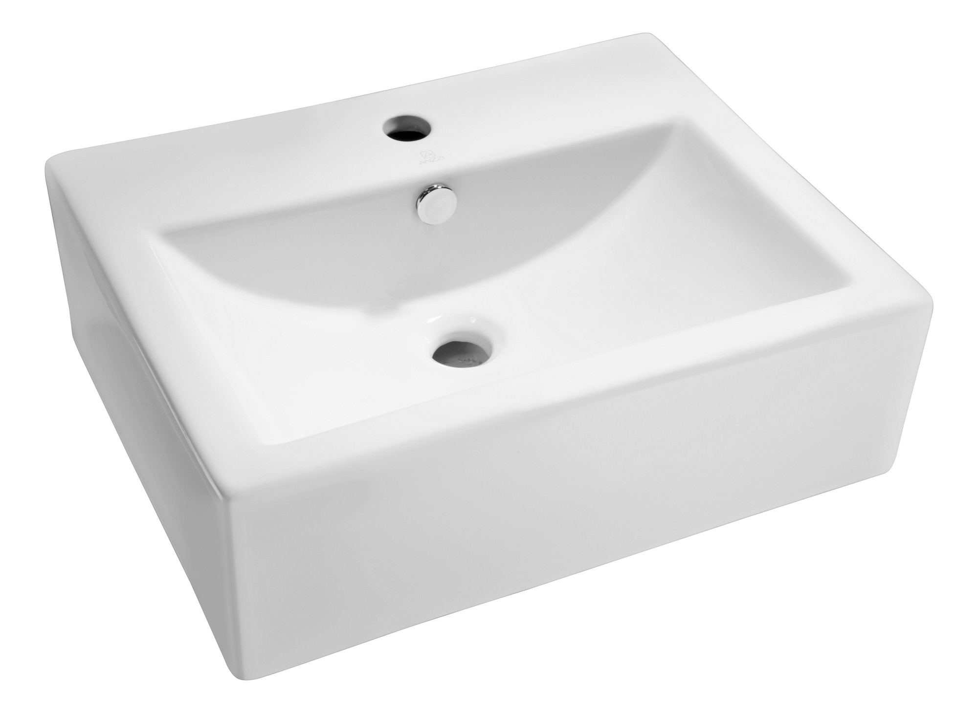ANZZI LS-AZ130 Vitruvius Series Vitreous China Ceramic Vessel Sink In White