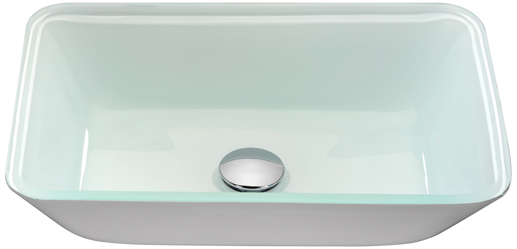 ANZZI LS-AZ194 Broad Series Handcrafted Deco-Glass Vessel Sink In White
