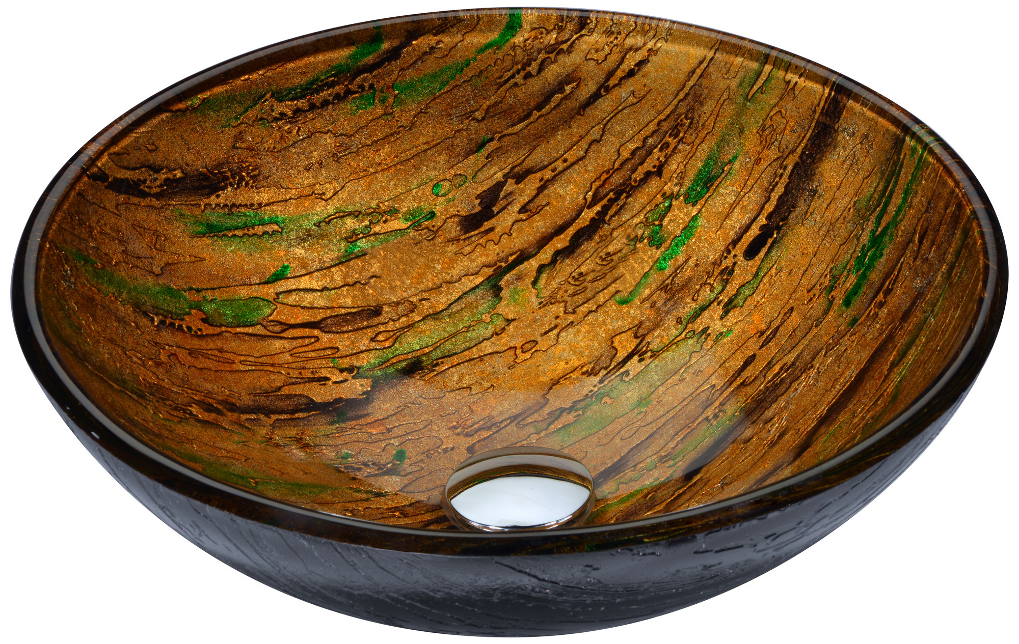 ANZZI LS-AZ206 Nile Series Deco-Glass Vessel Sink In Shifting Earth